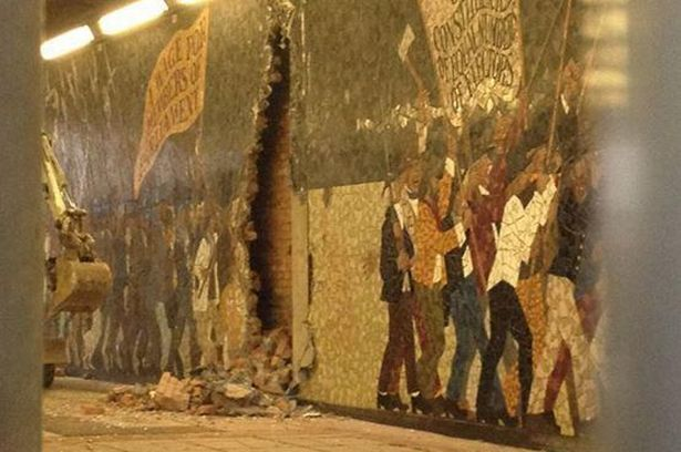 Chartist mural in newport centre destroyed for Chartist mural newport